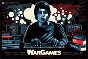 Limited Edition Screen Print Poster - War Games by artist James White Signalnoise -  www.skuzzles.com $45