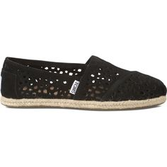 8db2303477 TOMS Black Moroccan Cutout Women's Classics Kid Shoes, Sock Shoes, Me Too  Shoes,