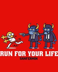 Sanfermin Running Of The Bulls, Satire, Fallout Vault, Lol, Drawings, Pamplona, T Shirt, Fictional Characters, Inspirational