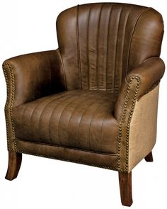 Buffalo Hide & Hessian Arm Chair, free delivery, coco54