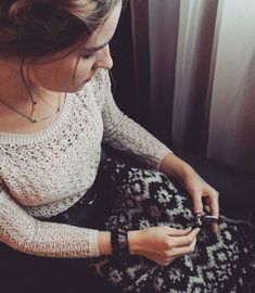 Almost finished with the sweater! There is a snowstorm outside, so what could be better way to spend the evening than knitting and… It Is Finished, Knitting, Lace, Sweaters, Tops, Women, Fashion, Moda, Tricot