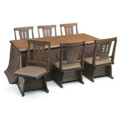 こたつも付いてるダイニングテーブル。椅子が回転するのも便利♪