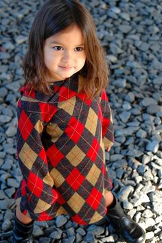 argyle and a dress...perfect
