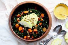 healthy holiday series: butternut squash + kale + apple salad — The Crunchy Radish