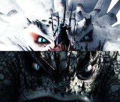 snow vs rock, ice vs fire, light vs dark