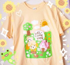 Nightcore Anime, Baby Pokemon, Plant Logos, Shirt Printer, Animal Crossing Villagers, Home T Shirts, Happy Puppy, Welcome Home, Quality T Shirts