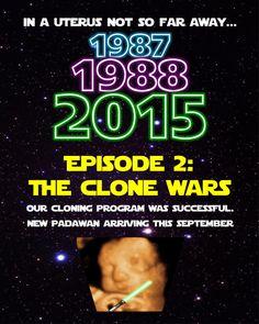Annonce de Star Wars bébé par BNHdigitaldesigns sur Etsy