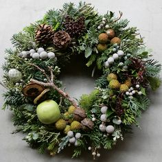 VK is the largest European social network with more than 100 million active users. Christmas Door Wreaths, Holiday Wreaths, Christmas Time, Christmas Crafts, Holiday Decor, Deco Floral, Natural Christmas, Christmas Design, Xmas Decorations
