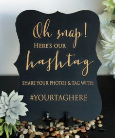 Custom Wedding Hashtag Sign