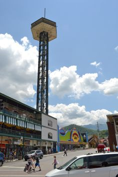 The Space Needle in Gatlinburg. This tower stands at 407 feet tall!