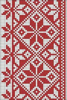 Tapestry Crochet Patterns, Fair Isle Knitting Patterns, Knitting Charts, Crochet Stitches, Cross Stitch Borders, Cross Stitching, Cross Stitch Embroidery, Embroidery Patterns, Cross Stitch Patterns