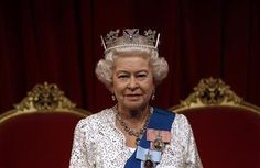 The new figure of the Queen at Madame Tussaud's Wax Museum unveiled today May 14, 2012 in London.