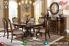 Vanessa Set Meja Makan Minimalis Klasik Jati Perhutani New Great Solid Wood BT-0835