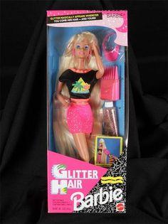 Glitter Hair Barbie 10965 1993 Blonde Vintage Mattel | eBay
