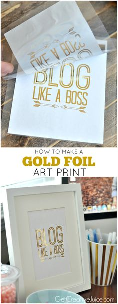 How to make a Gold Foil Art Print - DIY Tutorial