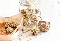Give joy to someone special this Christmas with these easy-made treats. For a boozy truffle, add 1 tablespoon Frangelico to the chocolate mixture before refrigerating for 10 minutes in step 1.