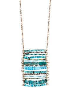 Turquoise Seed Bead Necklace