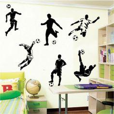 6 FOOTBALL FOOTBALLERS WALL ART BOYS BEDROOM WALL STICKERS | eBay