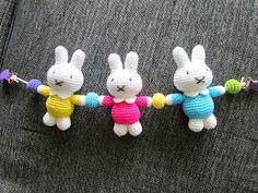 Free crochet pattern for Miffy stroller/pram toy