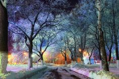Do you like winter? We think that common winter is a genuine miracle, while Russian winter is a wonder! Russian winter is something special. Beautiful World, Beautiful Places, Beautiful Pictures, Beautiful Park, Watercolor On Wood, Door Murals, Belle Villa, Winter Landscape, Winter Scenes