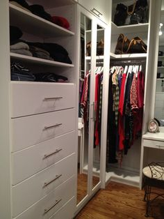 White Closet, Tall Mirror Doors