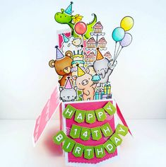 Birdie Brown Adorable Elephants, Beary Special Birthday, Cool Cat, Ewe Are the Best, Hog Heaven, and Magical Dragons stamp sets and Die-namics and Laina Lamb Design Stitched Banner Alphabet and Stitched Banner Numbers Die-namics - Amy Yang #mftstamps