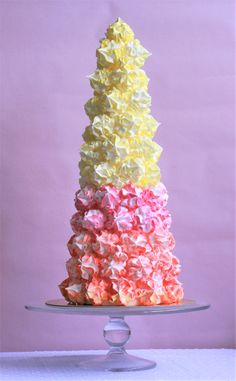 Create the most eye catching showstopper, and it really couldn't be easier with the help of the Marvelous Meringue Mix. Try customizing your colours to match your party or wedding theme or try changing your tip for a different shape meringue. One thing is for sure, everyone is going to be talking about this beautiful tower of sweetness.