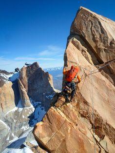 mu-neutrino: Cristobal Senoret on the ascent of the Andino Traverse, the linkup of the three Torres Del Paine. Mountain Climbing, Rock Climbing, Trekking, Ski, Adventure Aesthetic, Nepal, Escalade, In Patagonia, Extreme Sports