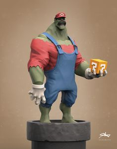 hulk-rio, Rattasat Pinnate on ArtStation at https://www.artstation.com/artwork/8OKvE