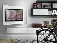 Mobile TV laccato orientabile sospeso RACK FREE by Fimar