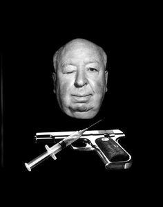 Philippe HALSMAN :: Promo photo for Alfred Hitchcock film Family Plot (1975)  #gun