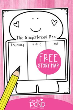 Free reading response worksheet for the gingerbread man. Record the beginning, middle and end of the story. Gingerbread Man Kindergarten, Gingerbread Man Activities, Christmas Activities, Kindergarten Christmas, 1st Grade Writing, Kindergarten Writing, Kindergarten Activities, Classroom Activities, Preschool Crafts