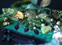 Plays With Needles awesome beaded work on material