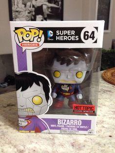 Funko Pop!Bizzaro DC Comics Hot Topic Exclusive Very Rare! #64