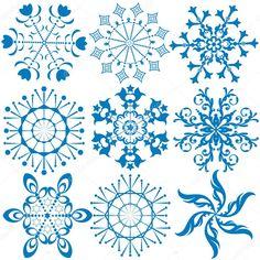 depositphotos_1157992-stock-illustration-collection-dark-blue-snowflakes.jpg (1024×1024)