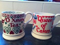 Emma Bridgewater Joy Personalised 0.5 Pint Mug 2012