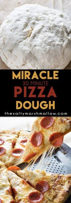 Pizza Dough Recipe The best homemade pizza dough with a soft, chewy, buttery crust only takes 30 minutes to make!The best homemade pizza dough with a soft, chewy, buttery crust only takes 30 minutes to make! Pizza Flavors, Pizza Recipes, Cooking Recipes, Cooking Videos, Cooking Tips, Pizza Snacks, Cooking Ham, Veggie Pizza, Skillet Recipes