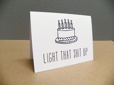 Funny Birthday Card, Happy Birthday Card, 21st birthday card. by UnhingedDesigns on Etsy https://www.etsy.com/listing/179019195/funny-birthday-card-happy-birthday-card