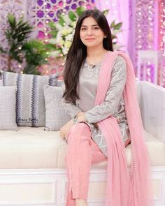 From bold colors to embroidered prints to silk clothes, Sanam Baloch dresses have given us an idea how to look trendy every season. Pakistani Formal Dresses, Pakistani Fashion Casual, Pakistani Dress Design, Pakistani Outfits, Indian Dresses, Pakistani Couture, Eid Outfits, Indian Couture, Indian Outfits