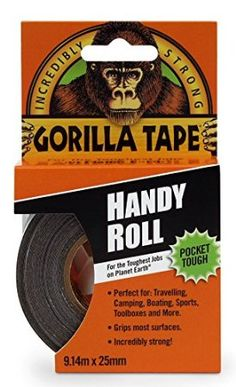 Gorilla Tape To-Go  -  You simply never know when of for what you'll need duct tape.  To say that there are a thousand uses for duct tape, is to underestimate its uses.