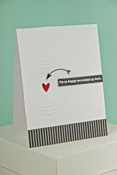 Love Maze Card by Erin Lincoln for Papertrey Ink (April 2014)