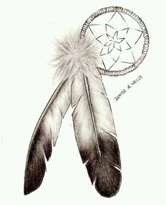 690270653a3d9 Eagle Feather and Dreamcatcher Tattoo Design by Denise A. Wells Photo   Eagle Feather and Dreamcatcher Tattoo Design by Denise A.