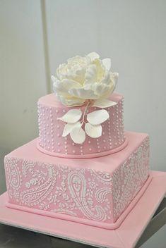 pretty pink paisley cake