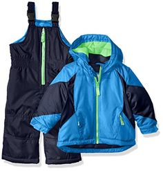 Carter's Boys' Heavyweight Colorblock Active 2 Pc Snowsuit * You can find more details at