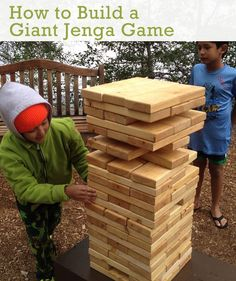 How to Build a Giant Jenga Game