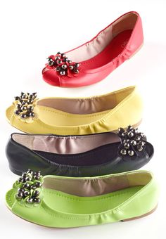 Embellished ballet flats from Cato Fashions.