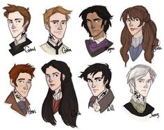 emmilinne:  Some of my favorite characters for Clockwork Princess so far. The Lightwood brothers are probably my top. And Will of course ;) (My designs for Will, Jem, and Tessa have changed a lot since this post.)