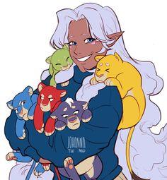 Allura and the frisky kittens she calls Paladins by Johannathemad.