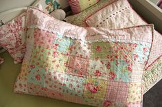 hand-quilted pillowcase, might be a good idea for the quilting month project.