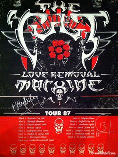 The Cult 'Love Removal Machine' Poster